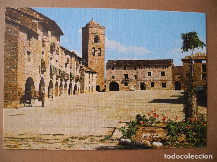 AINSA. PIRINEO ARAGONÉS. PLAZA DE ESPAÑA. ED. SICILIA EDICIÓN LUJO N. 11 NUEVA (Postales - España - Aragón Moderna (desde 1.940))
