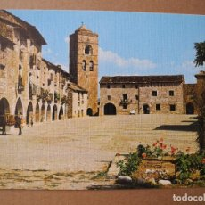 Postales: AINSA. PIRINEO ARAGONÉS. PLAZA DE ESPAÑA. ED. SICILIA EDICIÓN LUJO N. 11 NUEVA. Lote 255576960