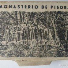 Postales: MONASTERO DE PIEDRA ACORDEON DE 12 MINI POSTALES 4,5 X 9 CM.. Lote 257397490