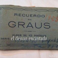 Postales: GRAUS (HUESCA) ALBUM 12 POSTALES. Lote 257711430