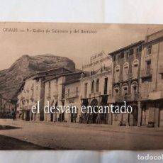 Postales: GRAUS. CALLE DE SALAMERO DON JOSÉ. Lote 257801120