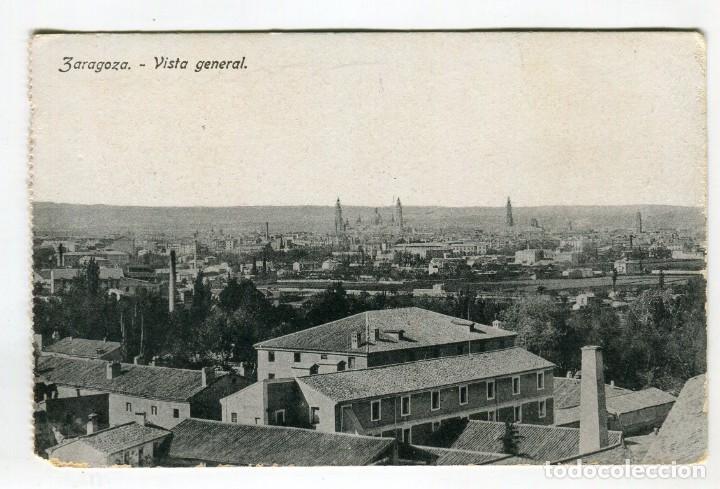 ZARAGOZA VISTA GENERAL PROCEDE DE BLOC 13,5 X 8,5 CMS APROX. VER REVERSO (Postales - España - Aragón Antigua (hasta 1939))
