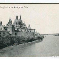 Postales: ZARAGOZA EL PILAR Y RIO EBRO SIN ESCRIBIR PROCEDE DE BLOC MEDIDAS 13,5 X 8,5 CMS. APROX. VER REVERSO. Lote 261839020