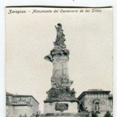 Postales: ZARAGOZA MONUMENTO DEL CENTENARIO DE LOS SITIOS SIN ESCRIBIR PROCEDE DE BLOC MEDIDAS 13,5 X 8,5 CMS.. Lote 261842175