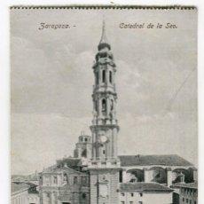 Postales: ZARAGOZA CATEDRAL DE LA SEO SIN ESCRIBIR PROCEDE DE BLOC MEDIDAS 13,5 X 8,5 CMS.VER REVERSO. Lote 261842770