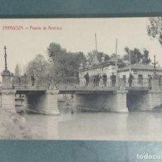 Postales: POSTAL - ZARAGOZA. PUENTE DE AMERICA.. Lote 262310090