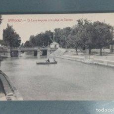 Postales: POSTAL - ZARAGOZA. EL CANAL IMPERIAL Y LA PLAYA DE TORRERO.. Lote 262310570