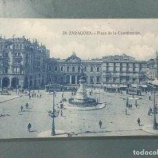Postales: POSTAL 24 - ZARAGOZA. PLAZA DE LA CONSTITUCIÓN.. Lote 262312250