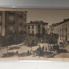 Postales: JACA , HUESCA , ARAGÓN , PLAZA DE LOS MARTIRES DE LA LIBERTAD , F. DE LAS HERAS.. Lote 262587870