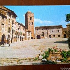 Postales: POSTAL AINSA. PIRINEO ARAGONÉS. PLAZA DE ESPAÑA. SIN CIRCULAR.. Lote 263124825