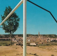 Postales: TERUEL ALLOZA VISTA DESDE EL CAMPO DE FUTBOL. CIRCULADA. Lote 263196485