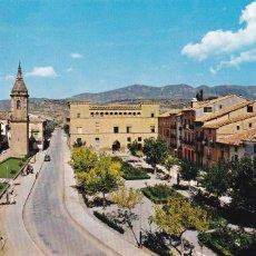 Postales: HUESCA AYERBE PLAZA RAMON Y CAJAL. ED. SICILIA Nº 1. AÑO 1963. CIRCULADA. Lote 263196770