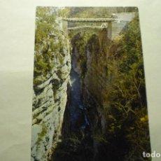 Postales: POSTAL AÑISCLO -PUENTE URBEZ SOBRE RIO BELLOS CM. Lote 263215895