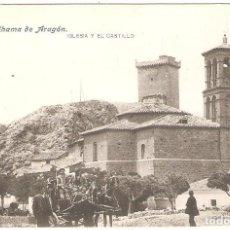 Postales: ALHAMA DE ARAGÓN (ZARAGOZA) IGLESIA Y EL CASTILLO.. Lote 265664569