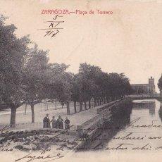 Postais: ZARAGOZA PLAYA DEL TORERO. ED. ARRIBAS. CIRCULADA CON CENSURA EN 1917. VER REVERSO. Lote 267512579