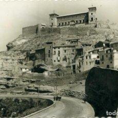 Postales: Nº 6-ALCAÑIZ. TERUEL. CASTILLO DE LOS CALATRAVOS. ESCRITA EN 1957. EDICIONES LUJO. Lote 268752474