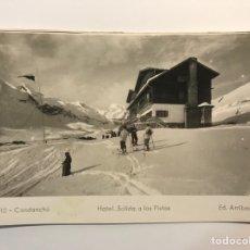 Postales: CANDANCHU (HUESCA) POSTAL NO.10 HOTEL SALIDA A LAS PISTAS (A.1953) ESCRITA... Lote 269016489
