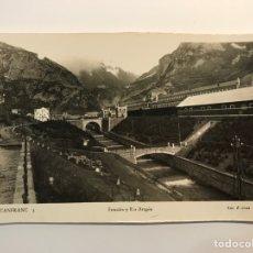 Postales: CANFRANC (HUESCA) POSTAL NO.3, ESTACION Y RÍO ARAGON. EDIC. ARRIBAS (A.1952) DEDICADA…. Lote 269024104