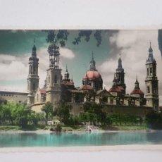 Postales: ZARAGOZA - BASÍLICA DE NUESTRA SEÑORA DEL PILAR - LAXC - P52068. Lote 269245503