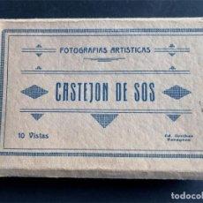 Postais: CASTEJÓN DE SOS / BLOC 10 POSTALES FOTOGRÁFICAS / HIJOS DE EMILIO BIELSA / ARRIBAS / HUESCA. Lote 269269758