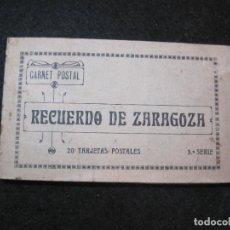 Postales: ZARAGOZA-BLOC CON 20 POSTALES ANTIGUAS-VER FOTOS-(81.649). Lote 269296538