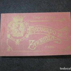 Postales: ZARAGOZA-BLOC CON 20 POSTALES ANTIGUAS-VER FOTOS-(81.650). Lote 269297088