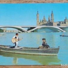 Postales: POSTAL - ZARAGOZA - TRAJES REGIONALES - PUENTE DE SANTIAGO - ZERKOWITZ.. Lote 269297218