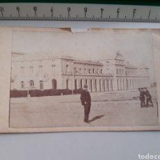 Postales: ANTIGUA FOTOGRAFIA TAMAÑO CARTE DE VISITE CDV ESTACIÓN DE ZARAGOZA SIGLO XIX. Lote 269342063