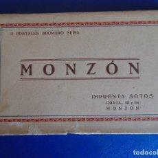 Postales: (PS-65719)BLOCK DE 12 POSTALES FOTOGRAFICAS DE MONZON-IMPRENTA SOTOS. Lote 269362933