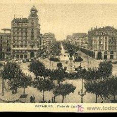 Postales: TARJETA POSTAL DE ZARAGOZA. -PLAZA DE ESPAÑA. Lote 269576833