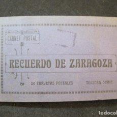 Postales: ZARAGOZA-BLOC CON 17 POSTALES ANTIGUAS-VER FOTOS-(81.723). Lote 269728938