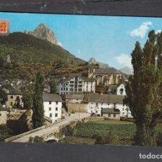 Postales: Nº 1691. SALLENT DE GÁLLEGO. VISTA GENERAL. AL FONDO, LA FORATATA. Lote 270160328