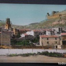Postais: MONZÓN (HUESCA), VISTA PARCIAL, POSTAL CIRCULADA CON SELLO Y MATASELLOS DEL AÑO 1964. Lote 270364658