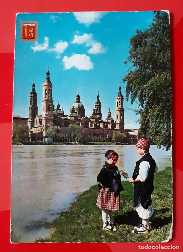 POSTAL N° 326 ZARAGOZA. BASÍLICA DEL PILAR. RIO EBRO. EDICIONES A. SUBIRATS CASANOVAS. ESCRITA. (Postales - España - Aragón Moderna (desde 1.940))