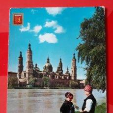 Postales: POSTAL N° 326 ZARAGOZA. BASÍLICA DEL PILAR. RIO EBRO. EDICIONES A. SUBIRATS CASANOVAS. ESCRITA.. Lote 270369663