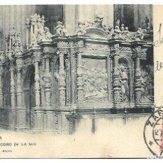Postales: POSTAL, ZARAGOZA - TRASCORO DE LA SEO. CIRCULADA 1904. REVERSO SIN DIVIDIR.. Lote 271067253