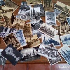 Postales: ZARAGOZA LOTE DE 38 POSTALES ANTIGUAS BLANCO Y NEGRO. Lote 271110488
