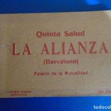 Postales: (PS-65958)BLOCK DE 20 POSTALES QUINTA SALUD LA ALIANZA(BARCELONA)PALACIO DE LA MUTUALIDAD.L.ROISIN. Lote 271821883