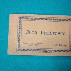 Postales: JACA PINTORESCO. BLOC CON 20 POSTALES . EDICION F. DE LAS HERAS. FOTOGRAFO JACA.. Lote 272908743