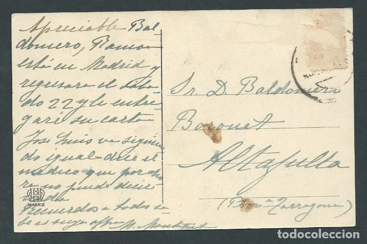 Postales: antigua postal pantano de la peña montaje de las 6 compuertas circulada - Foto 2 - 276200008