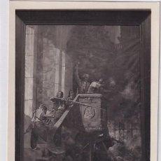 Postales: POSTAL FOTOGRÁFICA. ZARAGOZA. LOTY 46062 MUSEO PROVINCIAL. DEFENSA DEL PÚLPITO DE S. AGUSTIN.. Lote 276668473