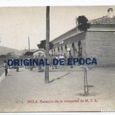 Postales: (PS-66149)POSTAL FOTOGRAFICA DE RICLA-ESTACION DE LA COMPAÑIA M.Z.A.. Lote 277165533