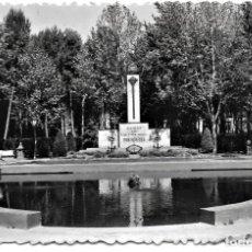 Postales: HUESCA. 26 - PARQUE. ESTANQUE Y MONUMENTO A LOS CAÍDOS - EDICIONES SICILIA. Lote 277599588