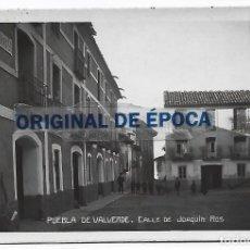 Postales: (PS-66164)POSTAL FOTOGRAFICA DE PUEBLA DE VALVERDE-CALLE DE JOAQUIN ROS. Lote 277623883