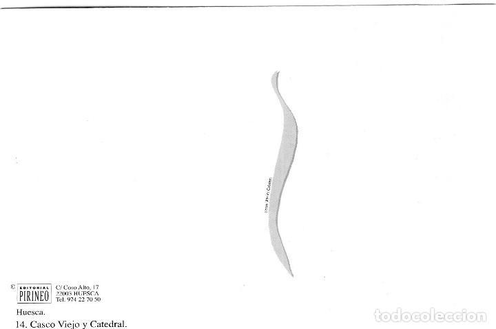 Postales: Huesca - Casco Viejo y Catedral - Ed. Pirineo nº 14 - Gran Formato 171x120 mm - Inédita en Todocolec - Foto 2 - 278178888