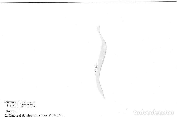 Postales: Huesca - Catedral siglos XIII-XIV - Ed. Pirineo nº 2 - Gran Formato 171x120 mm - Inédita en Todocole - Foto 2 - 278181438