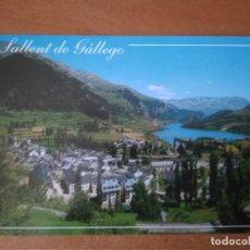 Postales: SALLENT DE GALLEGO (HUESCA) - VALLE DE TENA, VISTA GENERAL, AL FONDO PANTANO DE LANUZA. Lote 278184858