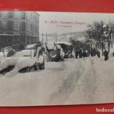 Cartoline: JACA CARRETERA A ZARAGOZA ED F HERAS ARAGON ANTIGUA ORIGINAL Nº 12 SC MAL CORTADA. Lote 278391413