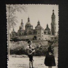Postales: ZARAGOZA , NIÑOS CON TRAJE REGIONAL - EDICIONES ASICILIA - SIN CIRCULAR. Lote 278430358
