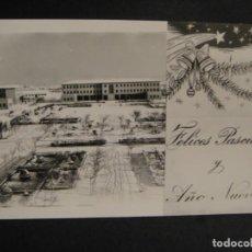 Postales: ZARAGOZA , FELICITACION DE NAVIDAD BASE AEREA-, REVERSO SIN IMPRIMIR. Lote 278430413
